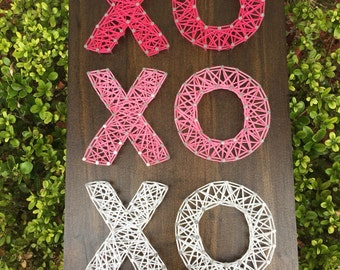Made To Order - XO Valentine's Day String Art Wooden Board