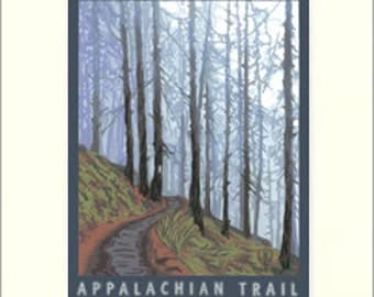 Appalachian Trail Matted Giclée Art Print: The Bungalow Craft by Julie Leidel, WPA-Style Poster Art, Arts & Crafts Movement