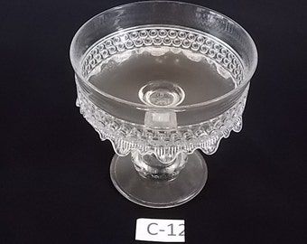 Clear glass Compote with ruffled edges