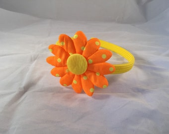 Yellow and orange flower headband, summer flower headband, girls hair accessory, girls headband, summer hair accessory flower headband