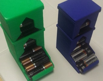 AA and AAA Battery Dispenser