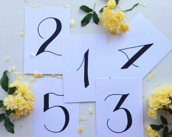 Wedding Table Numbers Printable