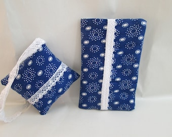 Pincushion and needle book Pincushion & needle book blue pressure