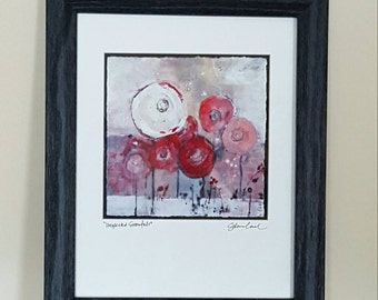 "Original Art Print ""Unexpected Snowfall"" signed by Sandra Engel, Framed art, Nature Print, American art, Home decor, VetterleinArt"