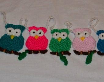 Crochet Owl bunting