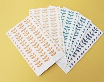 "Fancy paper bags ramage Series ""Same old words"" 9 x 15 cm Flat paper bags"