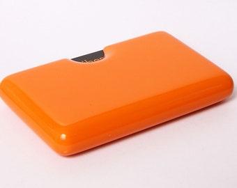 Orange Business Card Holder