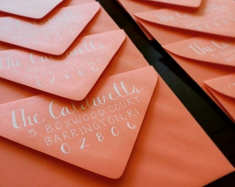 Custom Handwritten Envelope Addressing - Magnolia Font and Print Combination