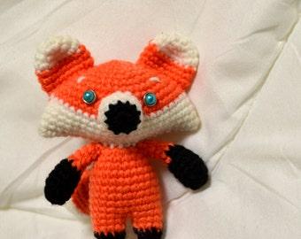 Cute Fox. Amigurumi (crocheted toy)