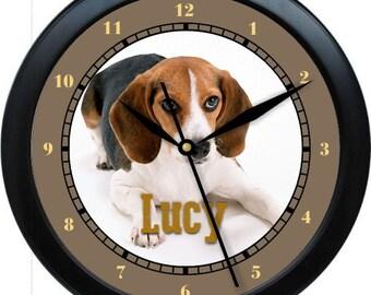 "Beagle 10"" Personalized Wall Clock Gift"