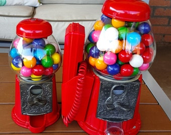 Vintage Gumball Machine with Telephone