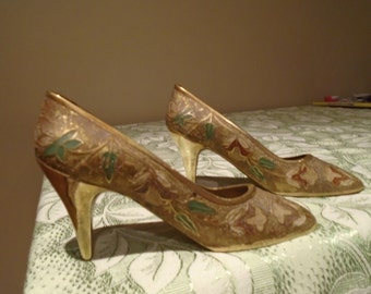 solid brass court shoes x2