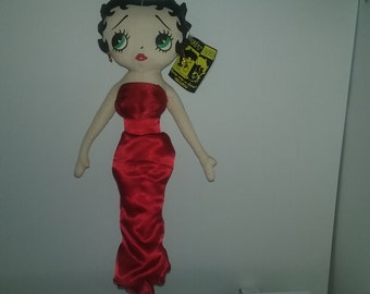 The Betty Boop Collection Betty Boop Kellytoy Plush Doll Red Dress Romance Betty