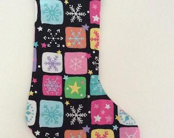 Snowflake And Stars Christmas Stocking