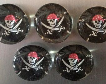 Pirate Refrigerator Magnets, Set of 5