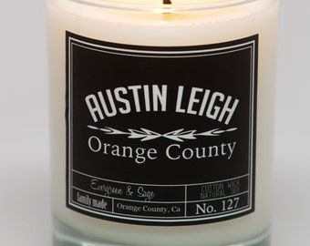 Evergreen & Sage Soy Wax Candle
