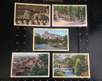 Vintage tourist postcards from the 1940's
