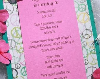Children's party invites