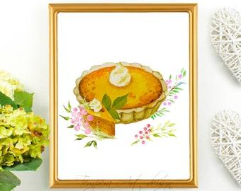 Kitchen Print/ Pie Painting/ Pie Print/ Food Print/ Pie Art/ Dessert Painting/ Dessert Print/ Kitchen Print/ Kitchen Art/ Kitchen Pie Print