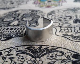 10 Polished 14 Gauge 3/8' Food Safe 1100 Aluminum Ring Blanks- FLAT