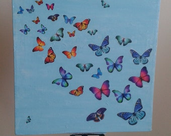handmade butterly canvas