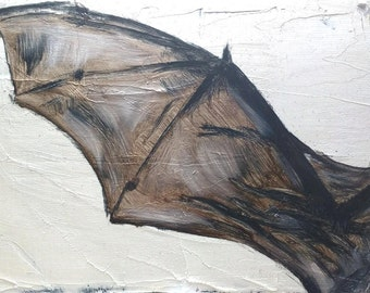 Oil Painting - Bat Wing - 6x8