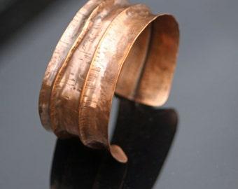 Copper Fold Formed Cuff