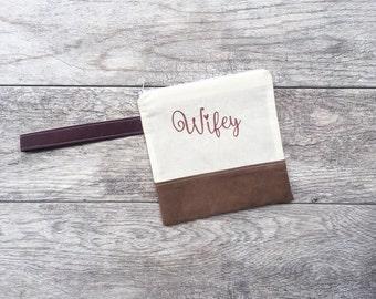 Clutch Purse - Bridal Clutch - Wedding Clutch - Clutch Bag - Clutch With Strap - Embroidered Bag - Gift For Bride On Wedding Day - Wristlet