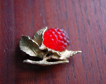 Napier Raspberry Brooch