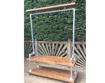 Industrial Style Clothes Rail (Double Base)