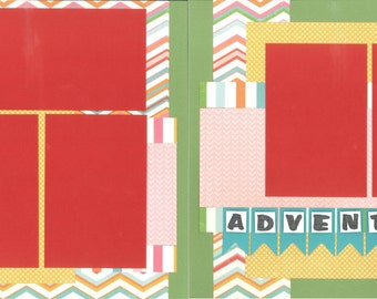 12x12 SUMMER scrapbook page kit, premade summer scrapbook, 12x12 premade scrapbook page, premade scrapbook pages, 12x12 scrapbook layout
