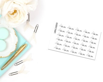 Hair Appointment/Scissors Planner Stickers