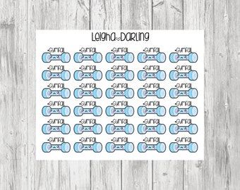 Kawaii Gym Fail/Hashtag/Exercise/Workout Planner Stickers