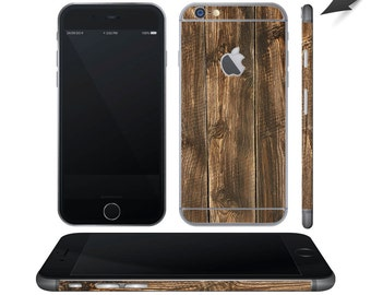 Brown Wood iPhone 6 wrap skin - iphone skins - covers for iphone - just the back