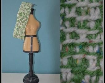 Green/White Headband