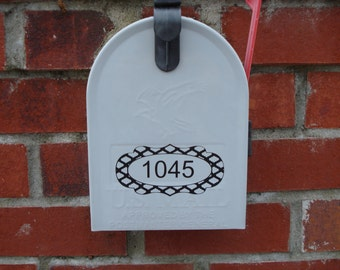 House numbers, Decal, Mailbox numbers, Vinyl sticker, Custom label