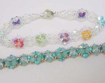 Crystal Flower Tennis Bracelet