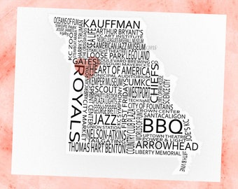 KCMO silhouette print 8x10-- Instant Download