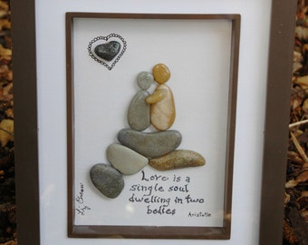Love is... pebble art