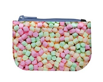 Tiny Marshmallows / Zip Up Purse