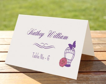 Wedding place card Template | diy Printable Place cards template | Editable MS Word Template | Instant Download