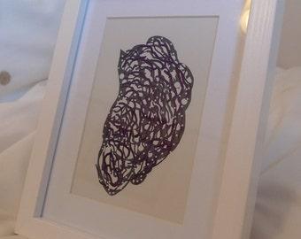 Digital Drawing - Framed Print #5