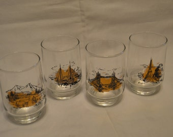 Vintage Set of Juice Glasses