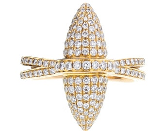 Boodles 'Velocity' Bullet Shaped Pave Diamond Ring