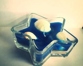 Star Fish Beach Vacation Candle