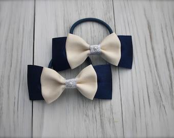 Handmade Tuxedo Hair Bow set