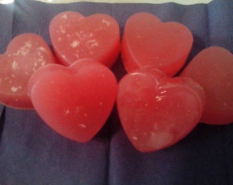Natural red heart glycerin soap