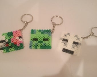 Set of 3 Minecraft Keyrings