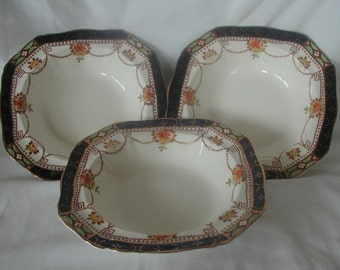 Set of Three Alfred Meakin Garland Dessert Bowls