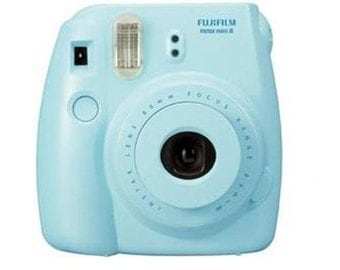 NEW FujiFilm Instax Mini 8 with Strap and Batteries, Blue
